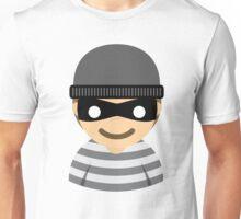Mask Thief Emoji Happy Smiling Face Unisex T-Shirt