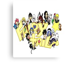 Fairy Tail Chibi Anime Canvas Print