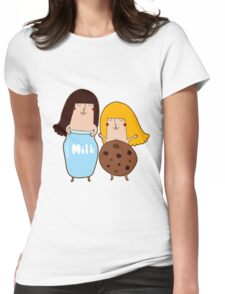 Milk & Cookies Womens Fitted T-Shirt