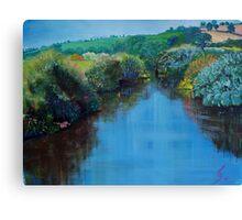 Along the River Exe - Devon Landscape Painting Canvas Print