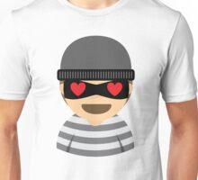 Mask Thief Emoji Heart and Love Eyes Unisex T-Shirt
