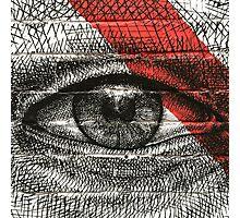 Shoreditch Graffiti Art, Red & Black Eye Photographic Print