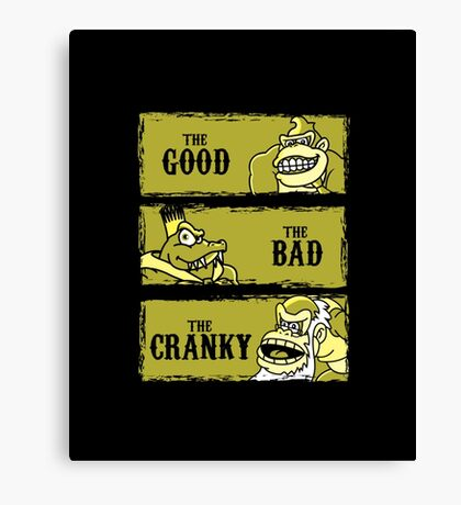 The Good, the Bad and the Cranky Canvas Print