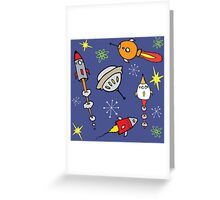 Space ships Greeting Card
