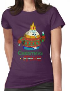 Christmas Ice King - Adventure Time Womens Fitted T-Shirt