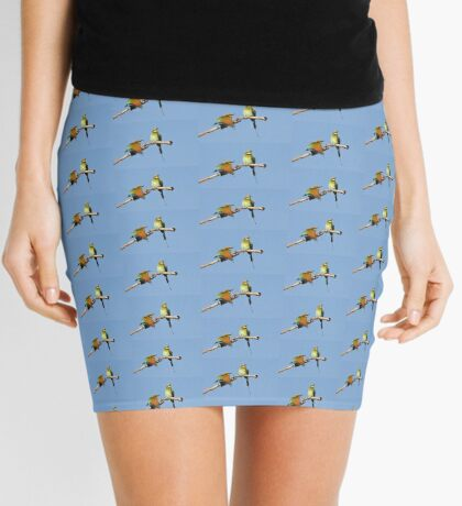 Rainbow Bee-eaters ~ Early Morning Stretch Mini Skirt