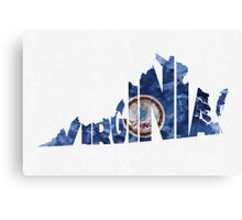 Virginia Typographic Map Flag Canvas Print