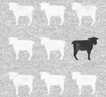 Many White Sheep: One Black Sheep by RedPine
