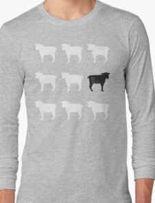 Many White Sheep: One Black Sheep Long Sleeve T-Shirt