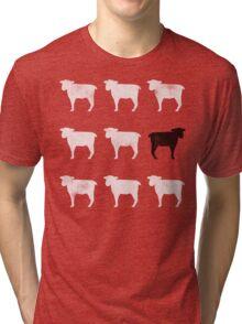 Many White Sheep: One Black Sheep Tri-blend T-Shirt