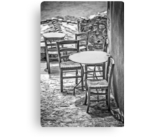 It's summertime, take your chairs and tables out in the sunshine Canvas Print