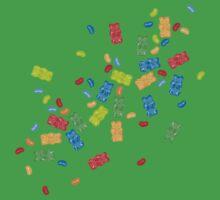 Jelly Beans & Gummy Bears Explosion One Piece - Short Sleeve