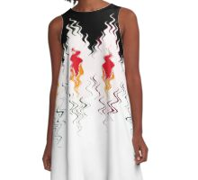 Colorful black and white pattern . A-Line Dress