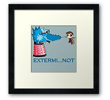 Extermi-not Powerpuff Tenth Doctor Framed Print