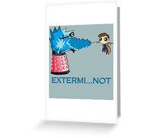 Extermi-not Powerpuff Tenth Doctor Greeting Card