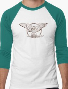 Mystical Owl Men's Baseball ¾ T-Shirt
