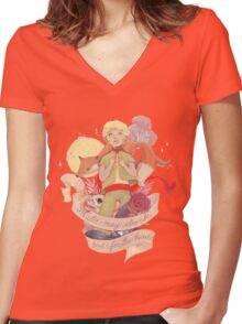 Water May Also Be Good For the Heart Women's Fitted V-Neck T-Shirt