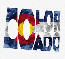 Colorado Typographic Map Flag by A. TW
