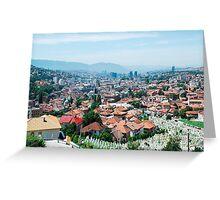 Sarajevo Skyline Greeting Card