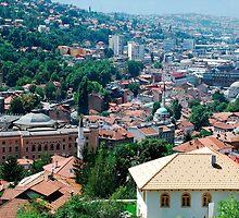 Sarajevo Skyline by jojobob