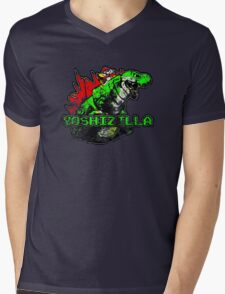 Yoshizilla Mens V-Neck T-Shirt