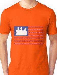 No Trump - No KKK - No Fascist USA Flag  Unisex T-Shirt