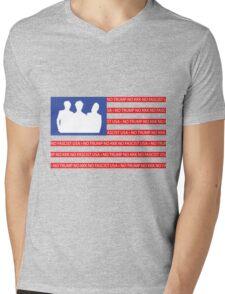 No Trump - No KKK - No Fascist USA Flag  Mens V-Neck T-Shirt