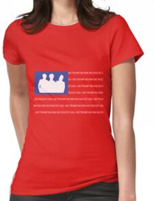 No Trump - No KKK - No Fascist USA Flag  Womens Fitted T-Shirt
