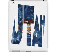 Utah Typographic Map Flag iPad Case/Skin