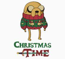 Christmas Jake - Adventure Time Kids Tee