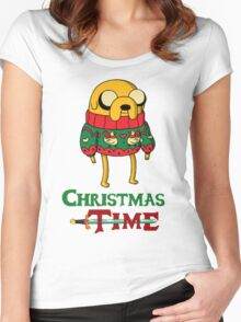 Christmas Jake - Adventure Time Women's Fitted Scoop T-Shirt