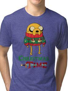 Christmas Jake - Adventure Time Tri-blend T-Shirt