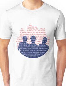No Trump - No KKK - No Fascist USA Flames Unisex T-Shirt