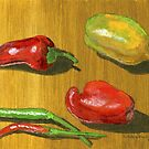 Some of Summer's Peppers by bernzweig