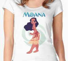 princes moana Women's Fitted Scoop T-Shirt