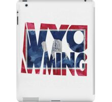 Wyoming Typographic Map Flag iPad Case/Skin