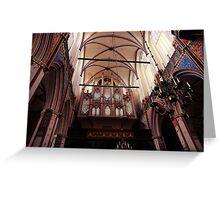 church, organ Greeting Card