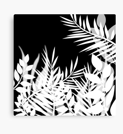 Black and white floral pattern . Canvas Print
