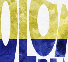 Colombia Typographic Map Flag Sticker