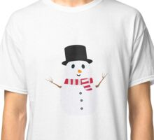 Happy Snowman with winterscarf Classic T-Shirt