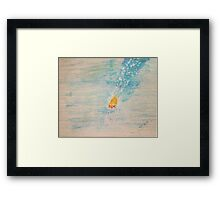 Diving into sea Framed Print