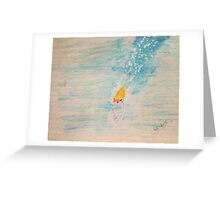 Diving into sea Greeting Card