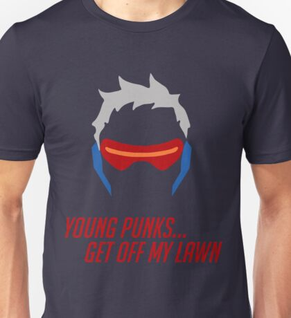 Soldier: 76 - Young Punks Get Off My Lawn Unisex T-Shirt