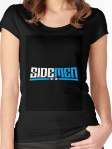 Blue & Black Sidemen Logo Women's Fitted Scoop T-Shirt