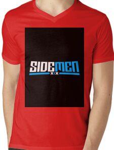 Blue & Black Sidemen Logo Mens V-Neck T-Shirt