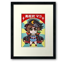 Chibi Fight Club Mako - Kill la Kill Poster Framed Print