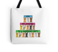You are invited to a surprise party. Tote Bag