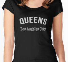 Queens Los Angeles City Women's Fitted Scoop T-Shirt