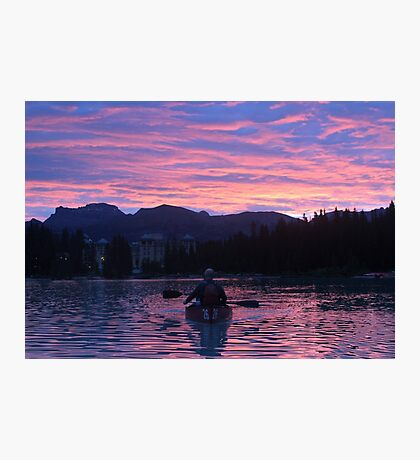 dawn on lake louise Photographic Print