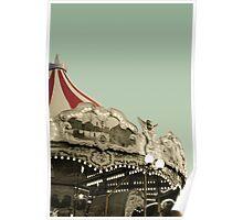 Vintage carousel ride Poster